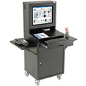 Mobile Security LCD Computer Cabinet Enclosure Complete Bundle - Black