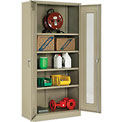 "Global™ Storage Cabinet With Expanded Metal Door Unassembled 36""W x 18""D x 78""H Tan"