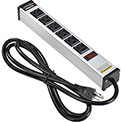 Global™ 12-in. 6 outlet Aluminum Power Strip with 6-ft Cord ETL/cETL