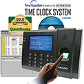 Amano Time Guardian® Automated Time Clock Fingerprint System, Black, FPT-80/A959