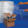 """UPSable Bubble Rolls 12"""" x 188' x 5/16"""", Perforated, Clear, 4/PACK"""