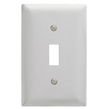 Bryant Ss1 Toggle Plate, 1-Gang, Standard, Satin Stainless - Pkg Qty 10