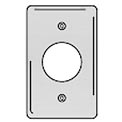 Bryant SS720 Single Receptacle Plate, 1-Gang, Standard, Satin Stainless, 1.60 open