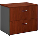 Bush Furniture Lateral File Cabinet, 2 Drawer with Single Handle Pulls - Hansen Cherry - Series C