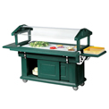 Cambro 5UBR519 - Ultra Food Bar with Cabinet Base 33x63, Green