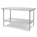Economical Type 304 Stainless Steel Worktables With Backsplash