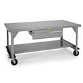 "Little Giant 3600-Lb. Capacity Mobile Worktable - 72X36"" Top"