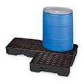 "Eagle Modular Spill Pallet - 25% Recycled - 51-1/2X26-1/4X6-1/2"" - With Drain - Black"