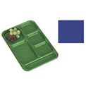 "Cambro PS1014186 - School Tray, 10"" x 14"" 6 Compartment, Navy Blue - Pkg Qty 24"