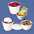 Dart DCC 8SJ20 - Foam Containers, 8 oz. Capacity, 1,000 Qty.