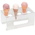 "Dispense-Rite® 6 Section Cone Stand - 1-5/8"" Holes"