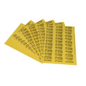 Durham Pressure Sensitive Labels 012-D850 - For Horizontal Drawer Cabinets - Size/Part N - Pkg Qty 10
