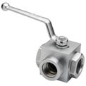 "Dynamic DE3L-38-NPT, High Pressure Ball Valve 3/8"" NPT Thread 4500 PSI"