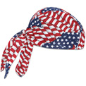 Ergodyne® Chill-Its® 6615 High-Performance Dew Rag, Stars/Stripes, One Size