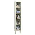 Hallowell USVP1286-5 Safety-View Plus Locker Five Tier 12x18x12 5 Doors Ready To Assemble Parchment