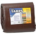 16' x 20' Super Heavy Duty 8 oz. Tarp Brown - BR16x20