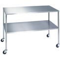 "Lakeside® 8357 Stainless Steel Instrument Table with Shelf - 36""L x 24""W x 34""H"