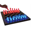 "Lumisource Led Glow Chess Set - 15.7"" L X 15.7""W X 1""H -  (Board)Blue / Red"