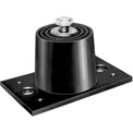 "Neoprene Floor Mount Vibration Isolator - 3-3/16""L x 1-5/8""W x 1-1/2""H Black"