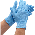 Powder-Free Nitrile Textured Exam Gloves - L, 100/Box