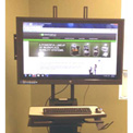 """Newcastle Systems B178 Post Mount LCD Holder (Up to 42"""") For NB, PC & RC Series Workstations"""