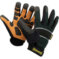 Classic Cut Resistant Kevlar Work Gloves, Green with Black Trim, Medium