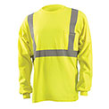 Classic Flame Resistant Long Sleeve T-Shirt, Hi-Vis Yellow, 2XL