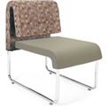 Uno Lounge Chair - Copper Fabric Back & Taupe Leatherette Seat - Pkg Qty 2