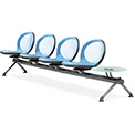 NET Series Beam with 4 Seats and 1 Table - Sky Blue