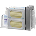 "Omnimed® Infection Prevention Station, Wall Mountable, 14""W x 9""D x 9""H, Clear"