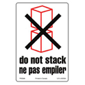 "Do Not Stack Shipping Label -  4"" X 6"" - Bilingual"