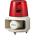 Patlite RT-120E-R+FC015 Smart Alert Plus Rotating Beacon & Horn W/32 Sounds, Red Light, AC120V