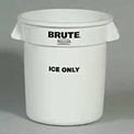 "Rubbermaid Commercial Fg9f8600wht Brute® ""Ice Only"" Container - Pkg Qty 6"