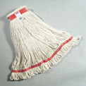 "Web Foot® Large Cotton/Synthetic, Wet Mop Heads W/ 1"" Headband, White 6/Pack - RCPA113WHI"