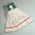 "Web Foot® Large Wet Mop Cotton/Synthetic Mop Head W/ 5"" Headband, White 6/Pack - RCPA153WHI"
