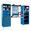 "Multipurpose Workstation for 50 KM - 30""Wx24""Dx87""H Avalanche Blue"