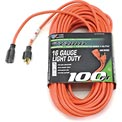 U.S. Wire 60100 100 Ft. Three Conductor Orange Extension Cord, 16/3 Ga. SJTW, 300V, 13A