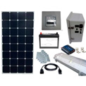 Sun-In-One™ SPLK1 Solar Shed Power & Lighting, 12 Volt 55 Amp Hr AGM Batt., 11-20 Yr Bulb Life