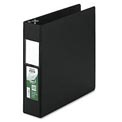 "Antimicrobial Locking D-Ring Binder For 11 X 8-1/2 Sheets, 2"" Cap., Black"