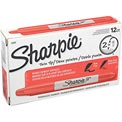 Sharpie® Twin-Tip Permanent Marker, Fine/Ultra Point, Red Ink