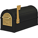 Salsbury Eagle Rural Mailbox 4855E-BLG - Gold Eagle, Black