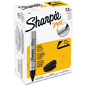 Sharpie® Pro Permanent Marker, Chisel Tip, Industrial Strength, Black - Pkg Qty 12
