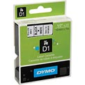"DYMO® D1 Standard Labels 1/2"" Black on White"