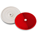 """Tapco® 102232 3-1/4"""" Red Centermount Reflector, Plastic Backplate, RT-90R"""
