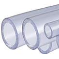 AIN Plastics PVC Plastic Tube Stock, Schedule 40, 1/2 in. Dia. x 96 in. L, Clear