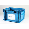 """Kennedy Group C0001 Container Placard Label Holder CSTP2 w/""""Place Label Here"""" 4-1/2x6-1/2 White - Pkg Qty 100"""