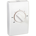Wall Mount Line Voltage Thermostat Double Pole, White