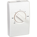 Wall Mount Line Voltage Thermostat Single Pole, White