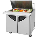 "Turbo Air TST-36SD-15 Super Deluxe Series - Mega Top Sandwich/Salad Table 36-1/3""W - 2 Door"