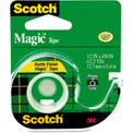 "Scotch® Magic Tape w/Refillable Dispenser, 1/2"" x 450"", Clear"